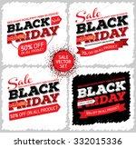 set of black friday sale... | Shutterstock .eps vector #332015336