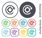 gear icon vector.  | Shutterstock .eps vector #332019056