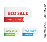 tucked big sale labels | Shutterstock .eps vector #332025752