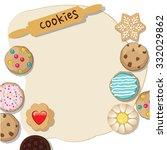 a cookie dough template | Shutterstock .eps vector #332029862