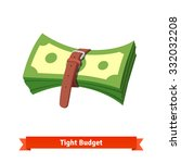 tight budget and recession... | Shutterstock .eps vector #332032208