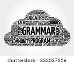 grammar word cloud  education... | Shutterstock .eps vector #332037356