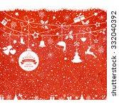 various hanging christmas...   Shutterstock .eps vector #332040392