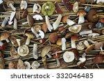 sliced mushrooms   | Shutterstock . vector #332046485
