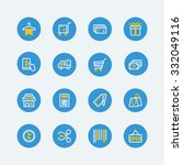 shopping  sale icons. vector... | Shutterstock .eps vector #332049116