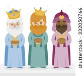 the three kings of orient... | Shutterstock .eps vector #332050766