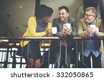 group business people chatting... | Shutterstock . vector #332050865
