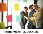 business team meeting... | Shutterstock . vector #332055986