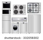 home appliances. set of... | Shutterstock .eps vector #332058302