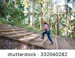 Girl To Climb The Stairs Of Th...
