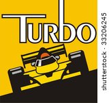 illustration of a racer on the... | Shutterstock .eps vector #33206245
