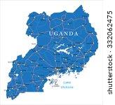 uganda map | Shutterstock .eps vector #332062475