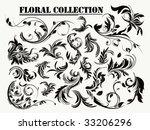 flowers ornament  grunge...   Shutterstock .eps vector #33206296