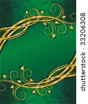 green background with golden... | Shutterstock .eps vector #33206308