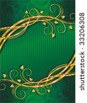 green background with golden...   Shutterstock .eps vector #33206308