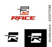 vector letter r symbol  ...   Shutterstock .eps vector #332075588