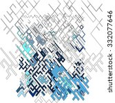 abstract pixel pattern... | Shutterstock .eps vector #332077646