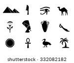 Egyptian Icon Set. Vector Art.