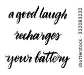 hand drawn vector lettering.... | Shutterstock .eps vector #332083232