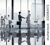 business people board room... | Shutterstock . vector #332083472