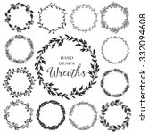 vintage set of hand drawn... | Shutterstock .eps vector #332094608