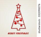 merry christmas card | Shutterstock . vector #332098376