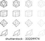 gray geometry figures   Shutterstock .eps vector #33209974
