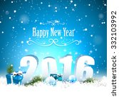 happy new year 2016   modern... | Shutterstock .eps vector #332103992