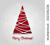 merry christmas tree greeting... | Shutterstock . vector #332106236