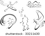 vector linear monochrome... | Shutterstock .eps vector #33211630