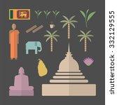 sri lanka flat symbols  | Shutterstock .eps vector #332129555