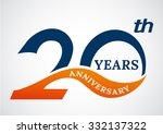 template logo 20th anniversary... | Shutterstock .eps vector #332137322