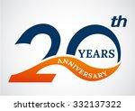 template logo 20th anniversary... | Shutterstock .eps vector #332137322