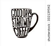 handdrawn inspirational and... | Shutterstock .eps vector #332139542