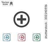 medical cross icon | Shutterstock .eps vector #332140556
