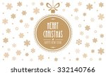 merry christmas gold ball... | Shutterstock .eps vector #332140766