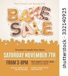 hand drawn type for a fall bake ... | Shutterstock .eps vector #332140925