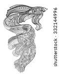 zentangle and doodle art ... | Shutterstock .eps vector #332144996