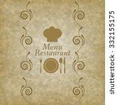 restaurant menu logo  ... | Shutterstock . vector #332155175