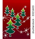 christmas card  vector | Shutterstock .eps vector #3321603