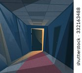 dark office room light from...   Shutterstock .eps vector #332163488