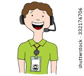 An Image Of A Call Center Agen...