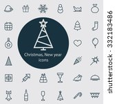 new year icons vector set | Shutterstock .eps vector #332183486