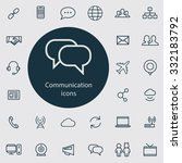 communication icons vector set. | Shutterstock .eps vector #332183792