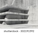 Abstract Concrete Room Interio...