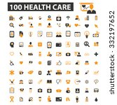 100 health care  medicine ... | Shutterstock .eps vector #332197652