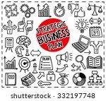 doodle strategic business plan...   Shutterstock .eps vector #332197748