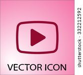 video  play icon. one of set...