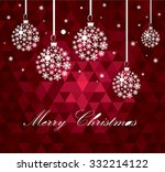christmas ball made from... | Shutterstock .eps vector #332214122