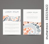 set of vector design templates. ... | Shutterstock .eps vector #332215622